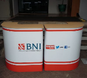 Meja Promosi Easy Counter L Series Bank BNI