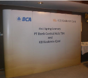 Backdrop Pop Up Backwall MOU Signing Ceremony Bank BCA