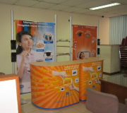 Booth Portable FD Complete Booth 3 dengan Easy Counter L Series Kiri dan Kanan