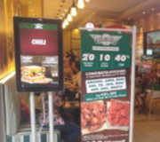 Digital Signage Digital AD Display 55 Inch With Stand Margo City Mall Depok