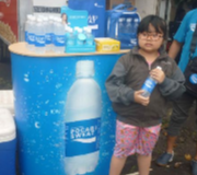 Meja Promosi Easy Counter Oval Pocari Sweat