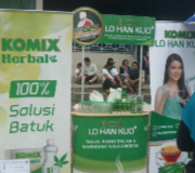 Paket Display Meja Promosi Easy Counter Oval + Banner Komix Lou Han Ko