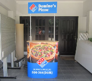 Meja Promosi Easy Counter Dominos Pizza
