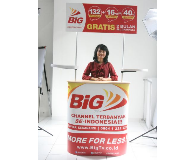 Meja Promosi Easy Counter Oval Big TV