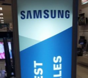 Lightbox Standing Ellips Pylon Promo Samsung Electronic City Bekasi Square