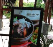 Digital Signage AD Display Floorstand Hotel Inaya Bali