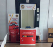 Meja Promosi Portable Kiosk High End Bank Mega