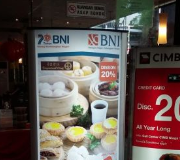 Lightbox Standing Ellips Pylon Restoran Imperial Chef Jakarta