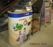 Meja Promosi Easy Counter Bank UOB Foodhall Mall Kelapa Gading