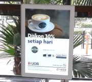 Standing Lightbox Display Litepad Promo Bank UOB di Wakecup Coffee