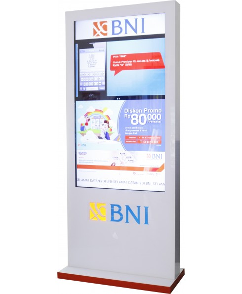 Digital Floorstand 55 inch White (logo can be changed)