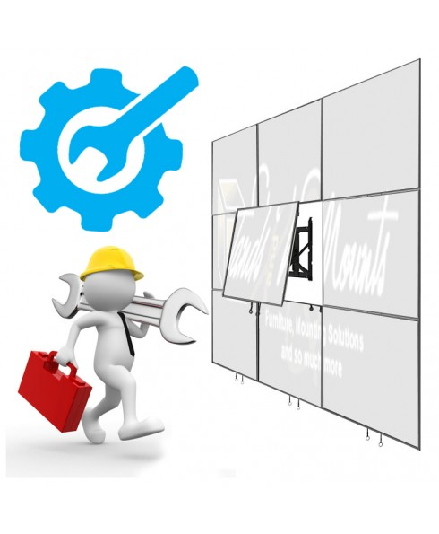 Installation and SET UP services On SITE VIDEO WALL 3x4 dan 4x4