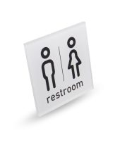 TOILET - Acrylic Square Sign