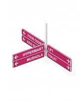 Way Finding - 3 Way 2 Row 2 Side 60 x 11,5 cm