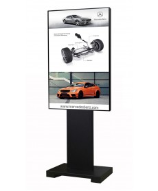 LCD Stand Aluminium System for 2 Pole with Cover