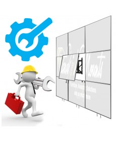 Installation and SET UP services On SITE VIDEO WALL 2x3 dan 3x 3