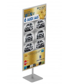jual papan info frame stand 60x140