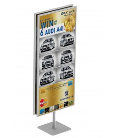 papan info frame stand
