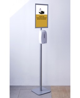 Svavo Automatic Hand Sanitizer with Frame Stand A3 and Graphic
