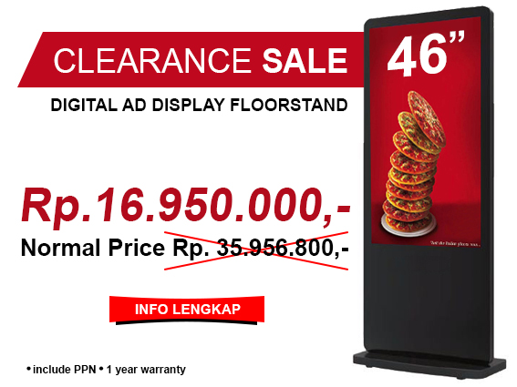 Clearance Sale AD Display Floorstand 46 Inch
