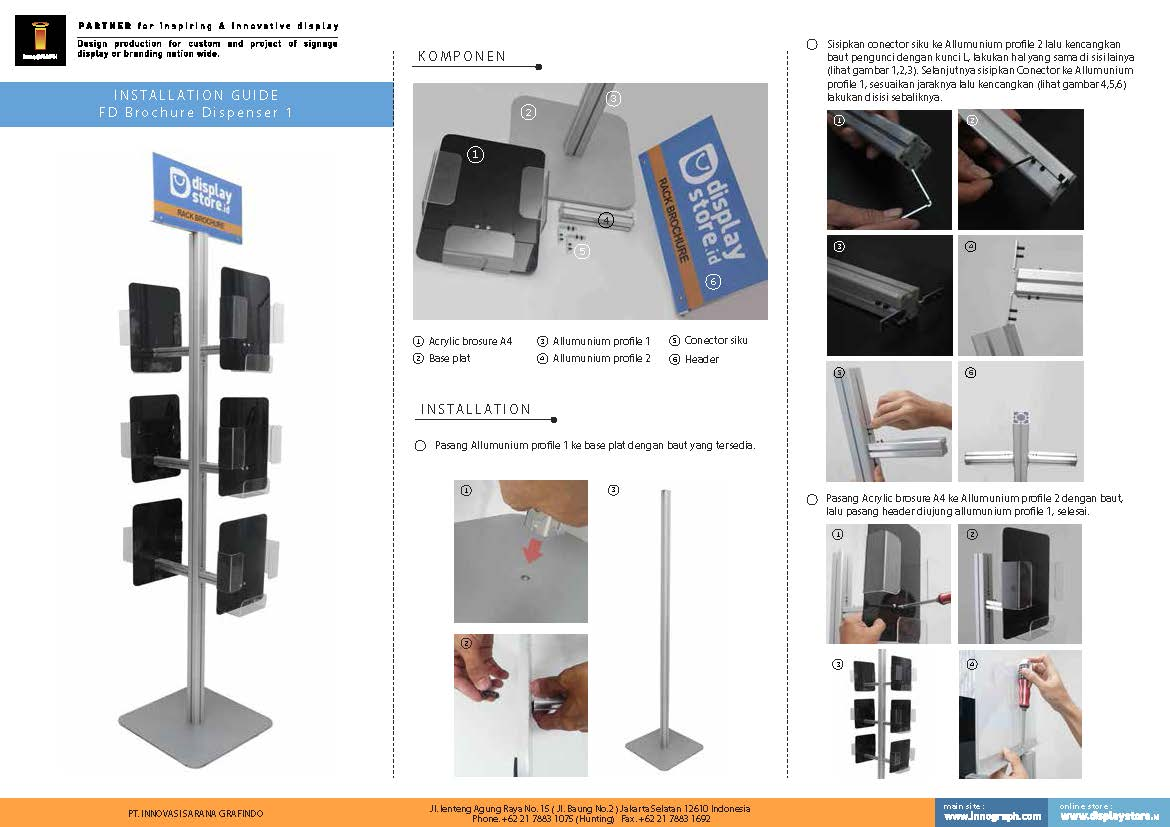 petunjuk pasang FD Brochure Dispenser