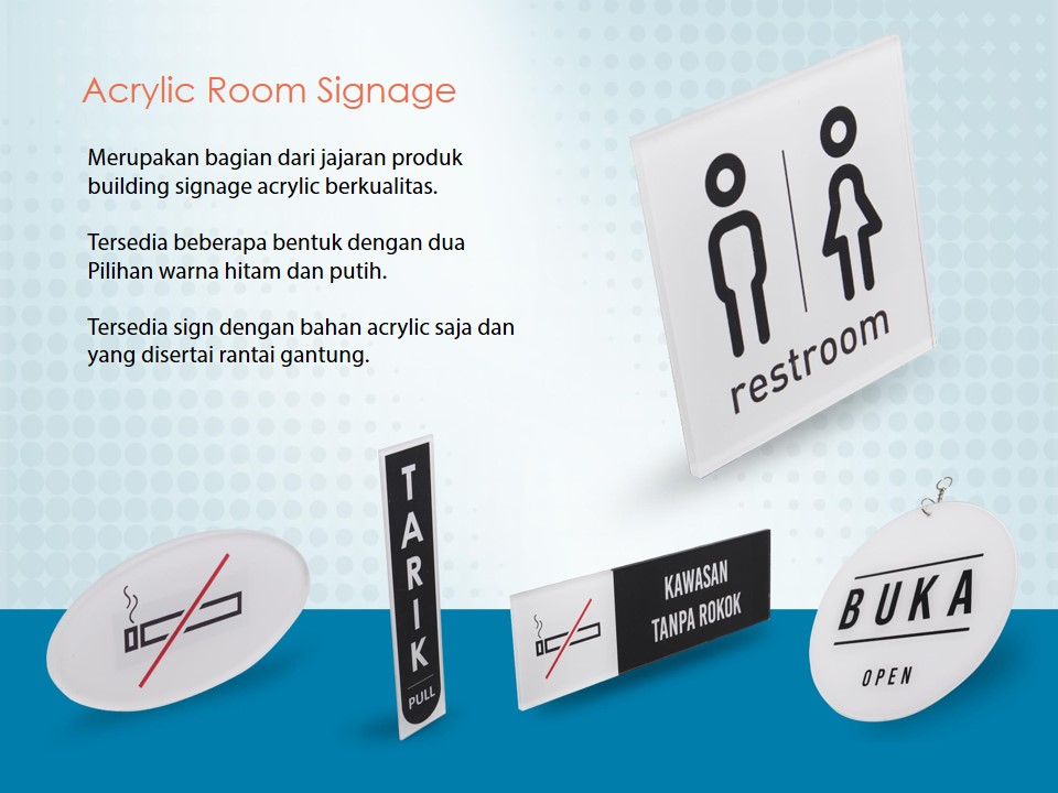 Papan Info Room Signage
