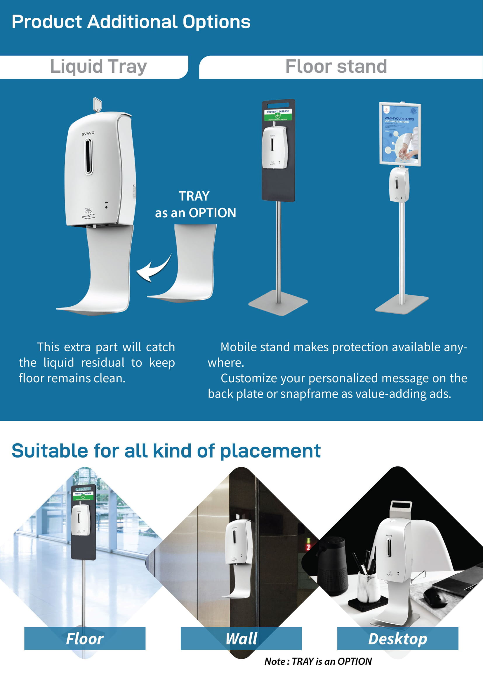Svavo Automatic Hand Sanitizer with Table Holder