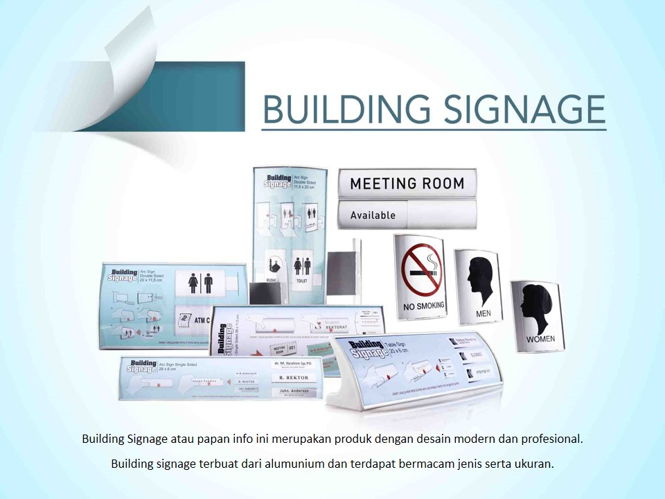 building signage papan info