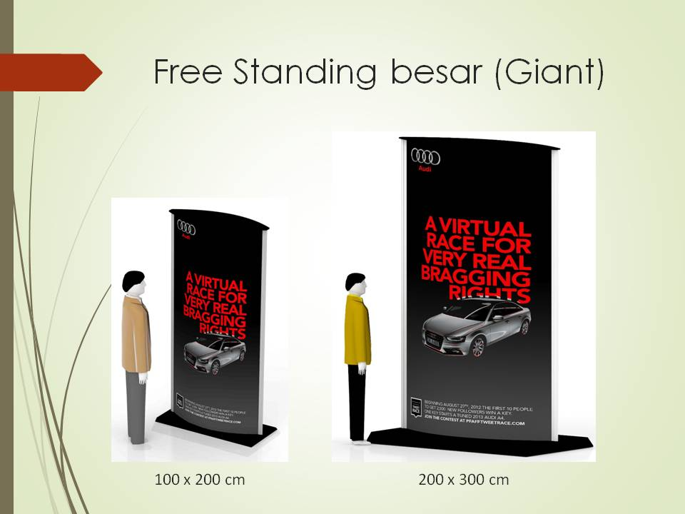 Jual Display Promosional Ellips Pylon