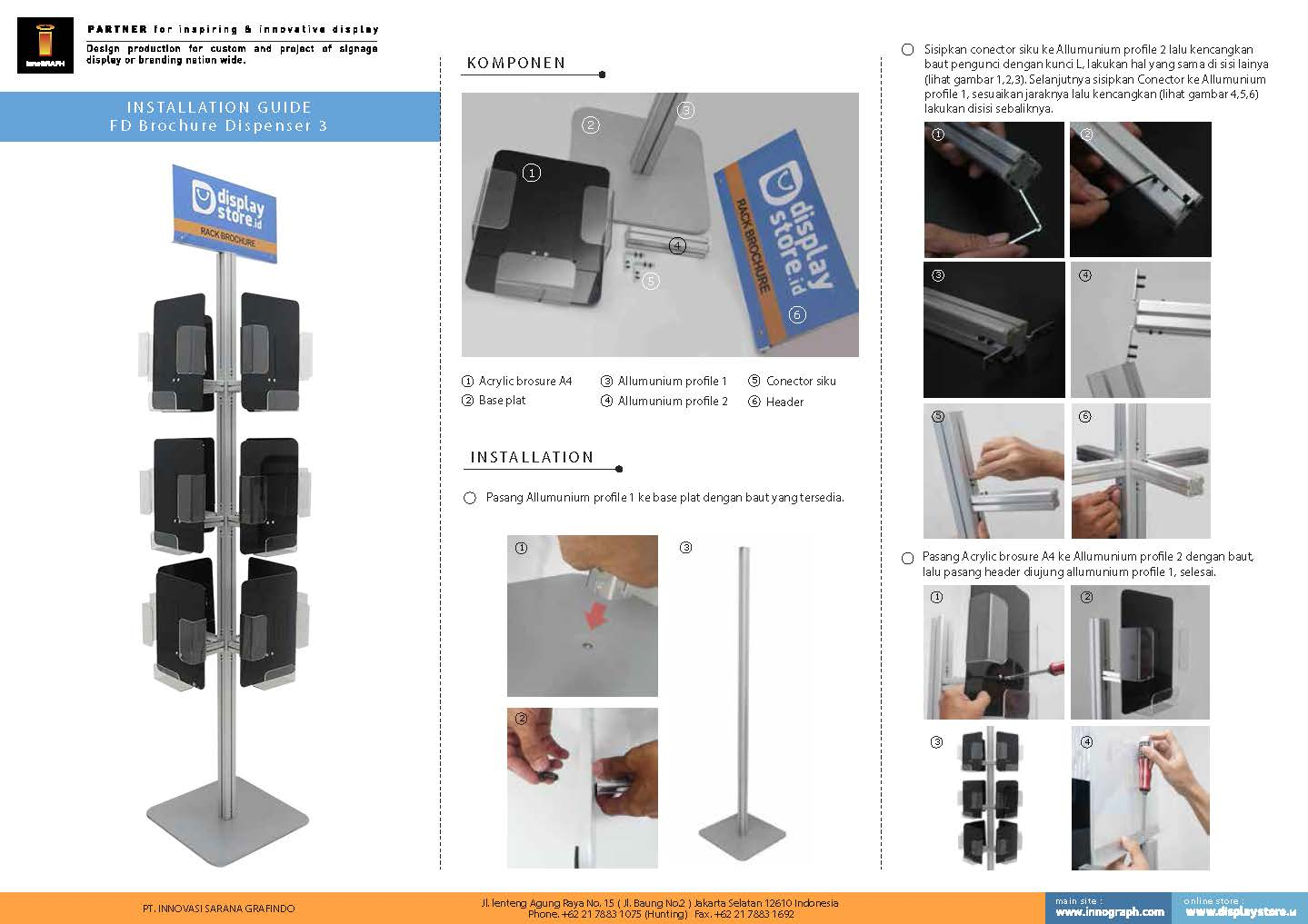 petunjuk pasang FD Brochure Dispenser 3